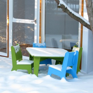 Outdoor kids furniture by Loll Designs