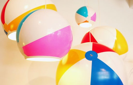 Beach ball inflated lamp by TobyHouse