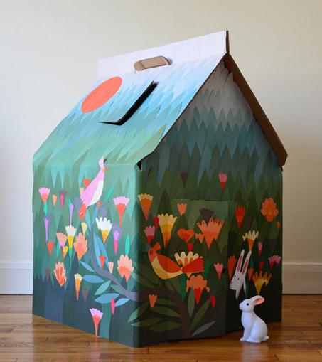 Casa Cabana di Kidsonroof customized by Agathe Singer via designperbambini.it