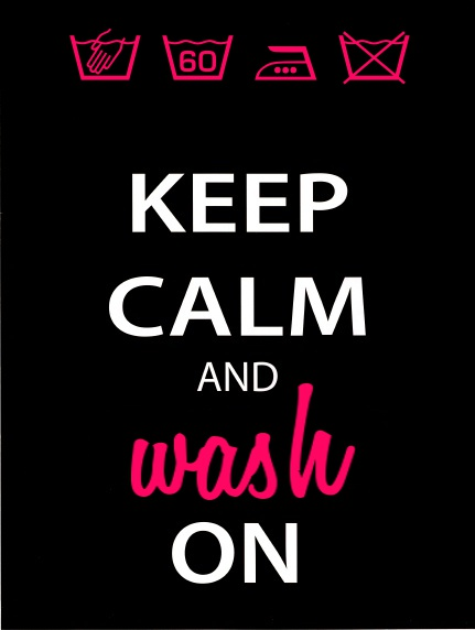 keep calm and wash on