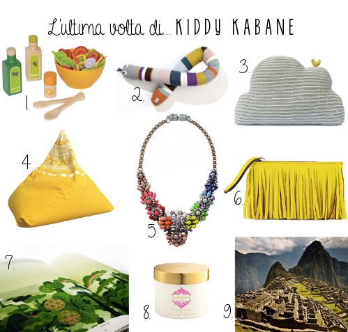 Favourite things by Paola Carlotto, founder of Kiddy Kabane, via designperbambini.it