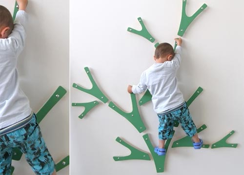 climbing wall tree for kids from MicroMakaroni